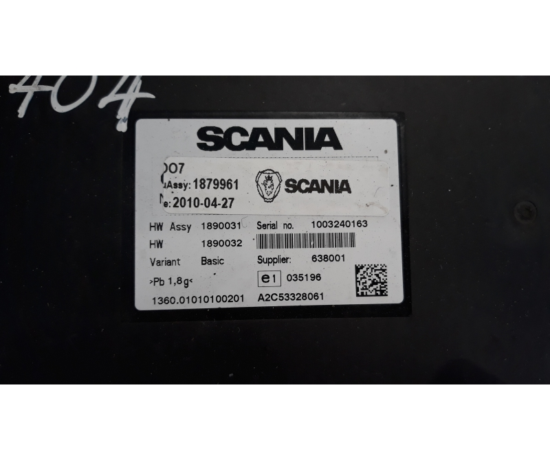 Scania Ecu Dc1310 Euro5 Ecu Set 2006546 Coo7 1879961