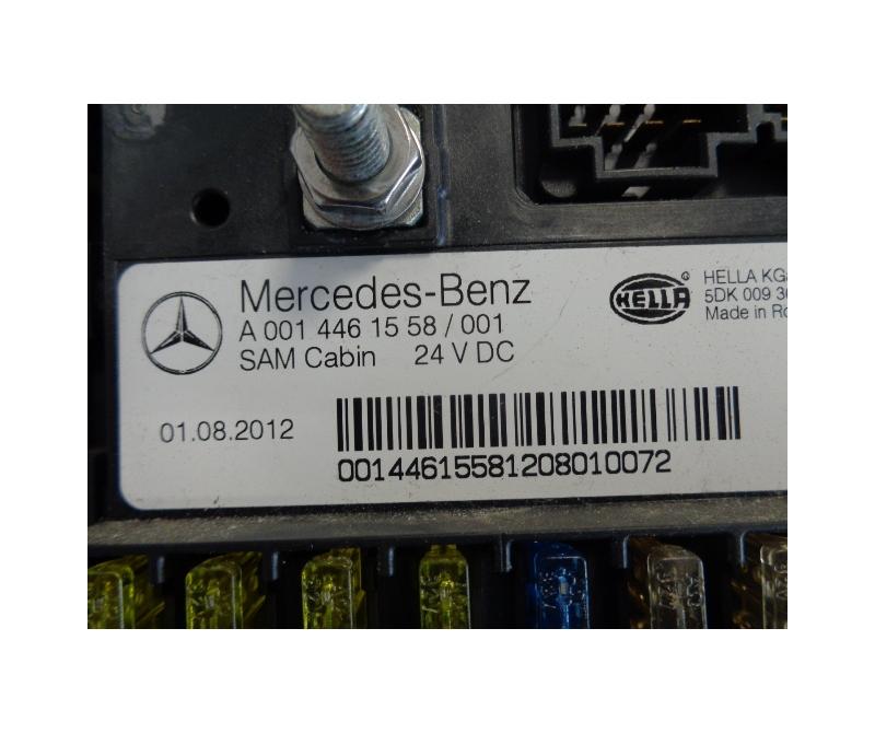 Mercedes Benz Actros MP4 SAM cabin fuse box A 0014461558