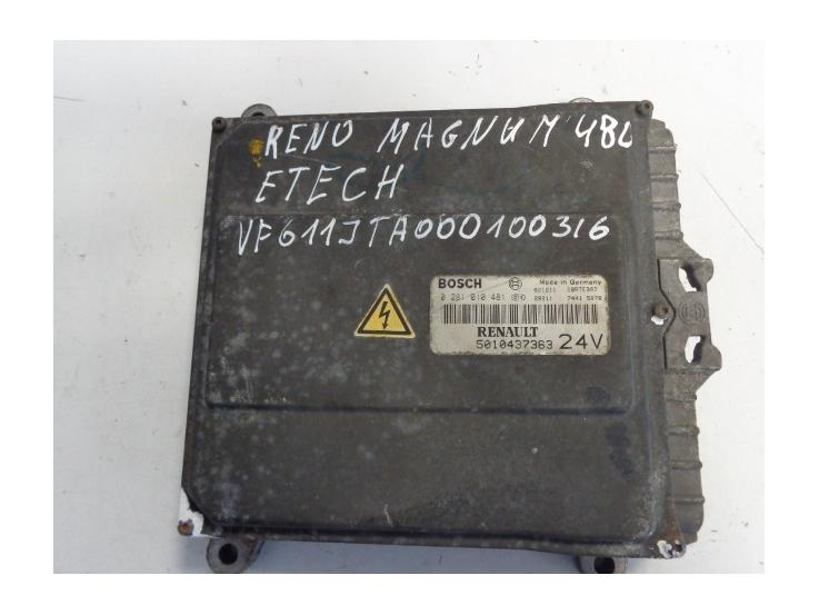 Renault engine control unit EDC ECU 5010437363, 0281010481 - FERIKAS